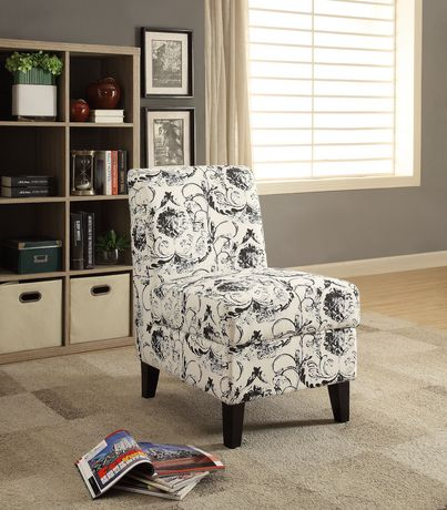 Acme Ollano Ii Accent Chair With Storage In Pattern Fabric