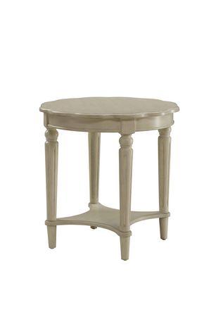 Table de bout Fordon d'ACME, blanc antique - image 2 de 2