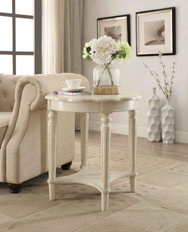Table de bout Fordon d'ACME, blanc antique - image 1 de 2