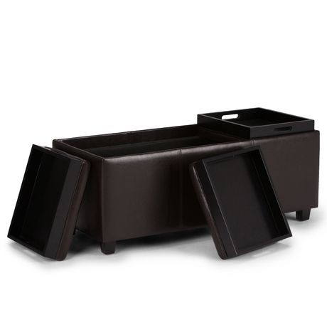 Remarkable 30 Storage Ottoman Walmart Franklin 3 Tray Storage Ottoman Ocoug Best Dining Table And Chair Ideas Images Ocougorg