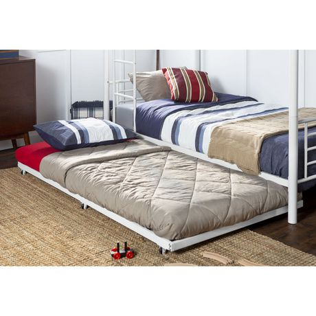 Twin Roll Out Trundle Bed Frame White Walmart Canada