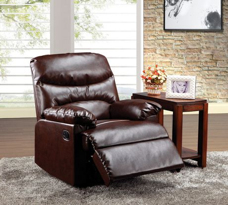 ACME Arcadia Recliner in Cracked Brown Bonded Leather - image 1 of 2