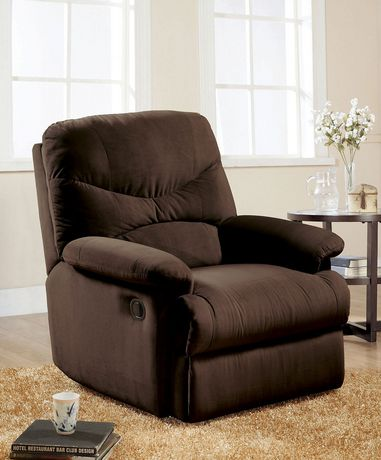 ACME Arcadia Glider Recliner in Chocolate MFB - image 1 of 3