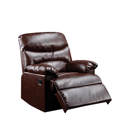 ACME Arcadia Recliner in Cracked Brown Bonded Leather - image 2 of 2