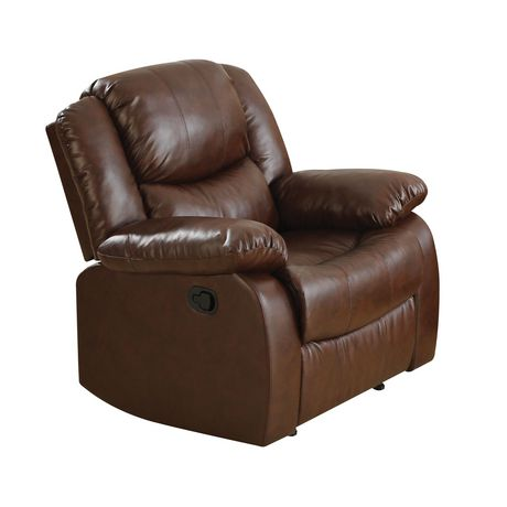 ACME Fullerton Recliner in Brown Bonded Leather Match - image 2 of 2