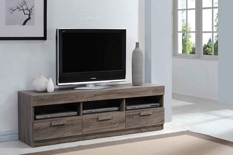ACME Alvin TV Stand in Rustic Oak - image 1 of 1