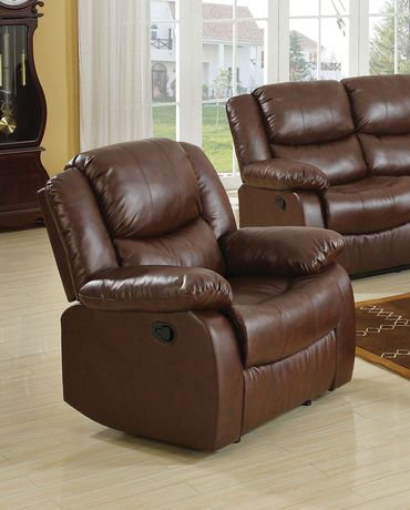 ACME Fullerton Recliner in Brown Bonded Leather Match - image 1 of 2