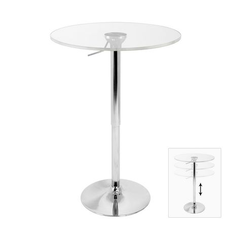 LumiSource Clear Adjustable bar Table - image 1 of 3
