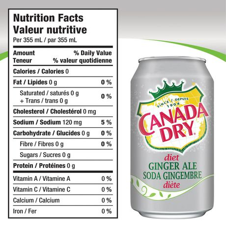 Canada Dry® Diet Ginger Ale 355 mL Cans, 12 Pack - image 9 of 9