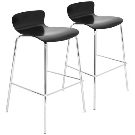 Tabouret de bar contemporain et empilable woodstacker par lumisource ens de 2 walmart canada for Tabouret bar contemporain