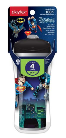 Playtex Baby Sipsters Spill-Proof DC Superfriends Batman Kids Sport Spout Cup - image 2 of 2