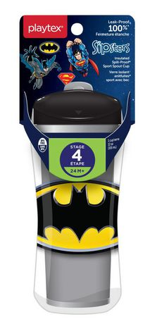Playtex Baby Sipsters Spill-Proof DC Superfriends Batman Kids Sport Spout Cup - image 1 of 2