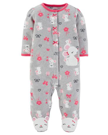 0cfd87721 Child of Mine made by Carter's Newborn Girls' Sleep N Play Outfit -Mouse ...