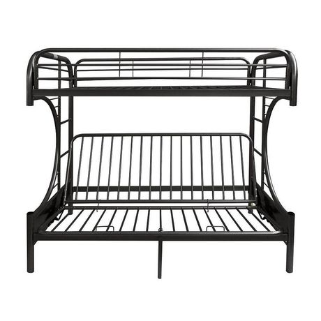 Acme Eclipse Twin Over Full Futon Bunk Bed In Black