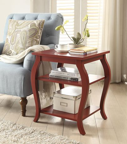 ACME Becci End Table in Red - image 1 of 3