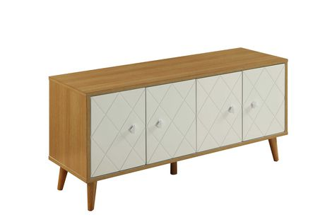 ACME Anita Console Table in Natural & White - image 2 of 2