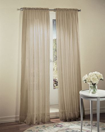 918 Crushed Voile Grommet Curtains Walmart Canada