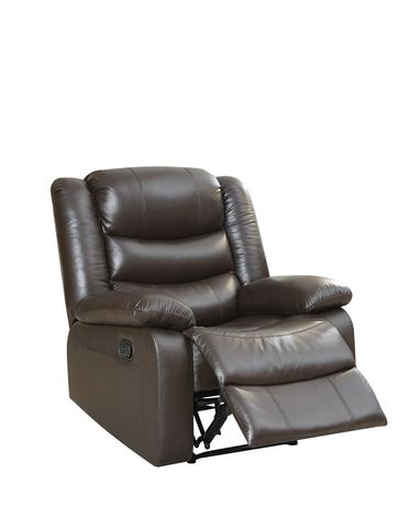 ACME Fede Recliner in Espresso Top Grain Leather Match - image 2 of 2