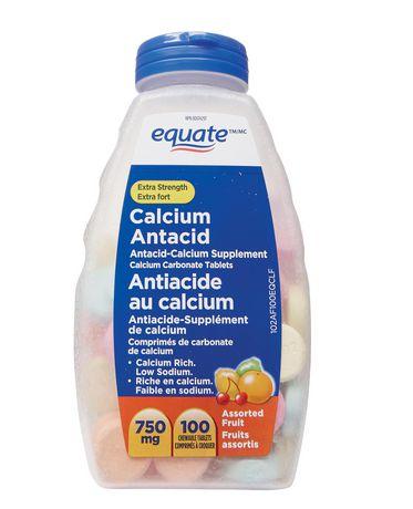 Equate Extra Fort Antiacide au Calcium, Fruits Assortis 750mg - image 1 de 1