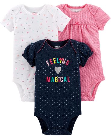 2a6984d0d Child of Mine made by Carter's 3Pack Newborn Girls Bodysuits - Magic -  image 1 ...