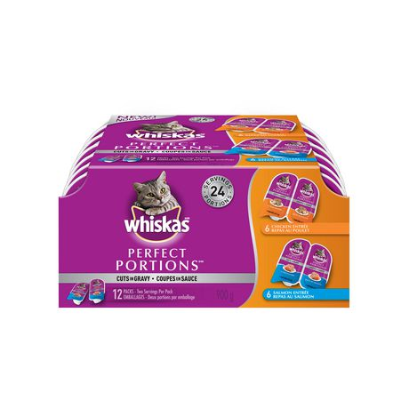 WHISKAS® Perfect PORTIONS® Cuts in Gravy Chicken & Salmon Selections Wet CAT Food - image 1 of 8