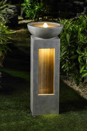 Hometrends Garden Fountain With Led Light Walmart Canada