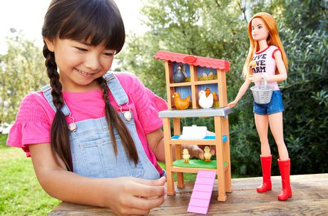 Barbie Chicken Farmer Doll & Playset - image 2 of 9