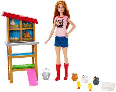 Barbie Chicken Farmer Doll & Playset - image 1 of 9