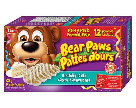 Bear Paws Birthday Cake