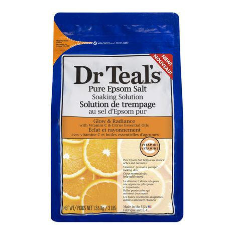 Dr Teal's Pure Epsom Salt Soaking Solution Glow and Radiance - image 1 of 1