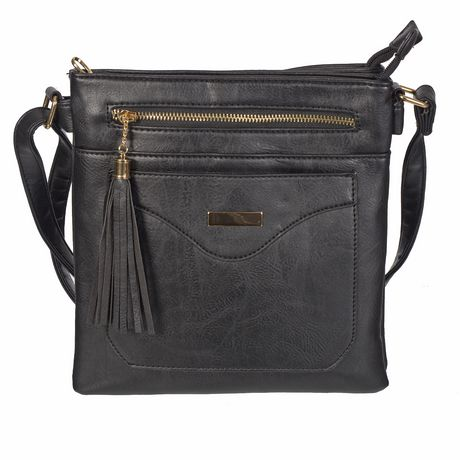 Nicci Crossbody Bag with Faux Flap - image 1 of 2