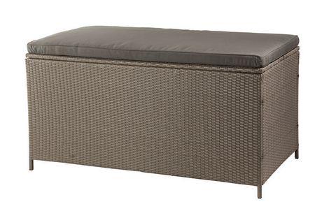 Patio Flare Tuck Wicker Deck Box Bench Brown 1160