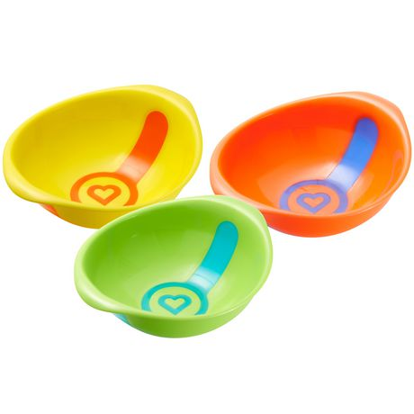Munchkin White Hot Toddler Bowls - 3 Bowls - image 1 of 4
