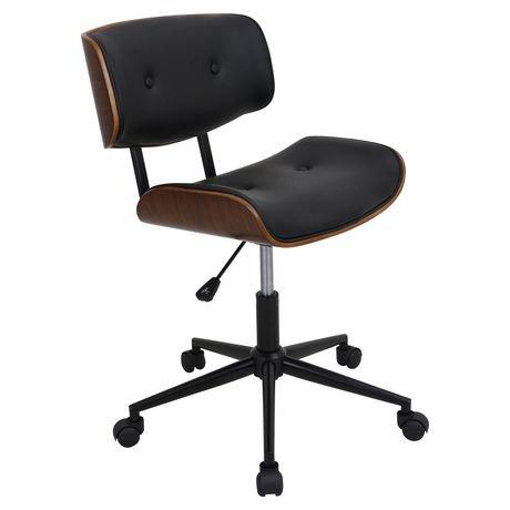 chaise de bureau milieu du si cle lombardi hauteur ajustable par lumisource walmart canada. Black Bedroom Furniture Sets. Home Design Ideas