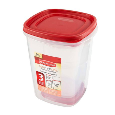 Rubbermaid Easy Find Lids 6 Piece Canister Set Walmart