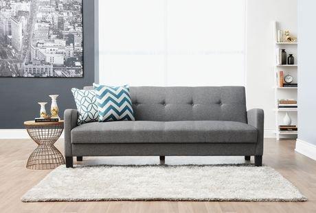 Hometrends Grey Futon Sofa Bed Walmart Ca
