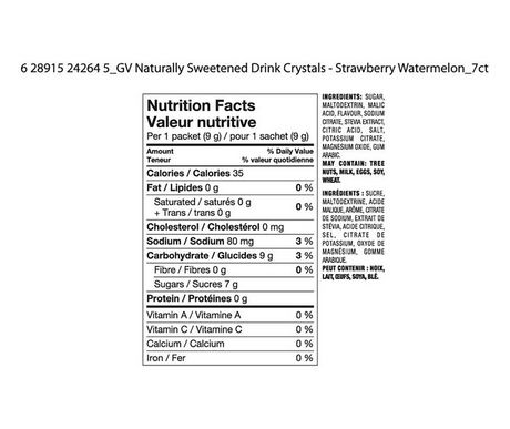 Great Value Strawberry Watermelon Naturally Flavoured Drink Mix - image 2 of 2