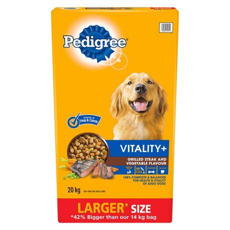 Pedigree VITALITY+ Steak And Vegetable Flavor Dry Dog Food - image 1 of 2