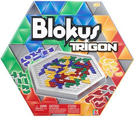 Jeu de société multicolore Blokus Trigon en forme d'hexagone de Mattel
