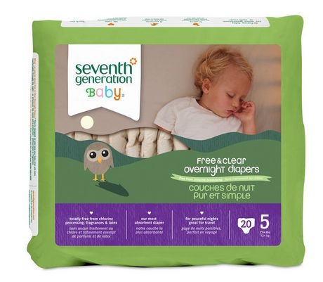Seventh Generation Pur Et Simple Couches De Nuit Pour Bebes