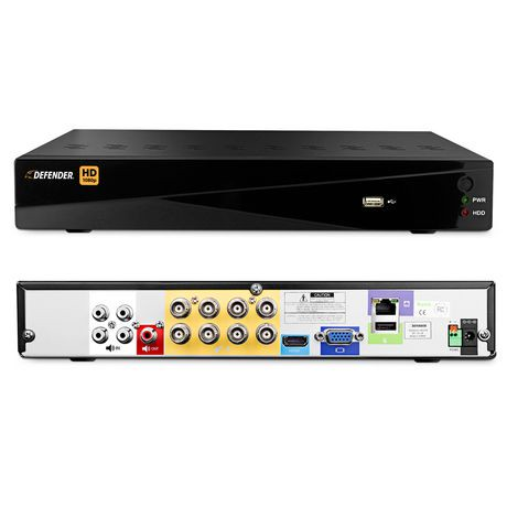 Defender HD 1080p 8 Channel 1TB DVR Security System and 4 ...