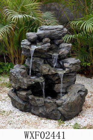 Awesome Hometrends Rockfall Patio Fountain