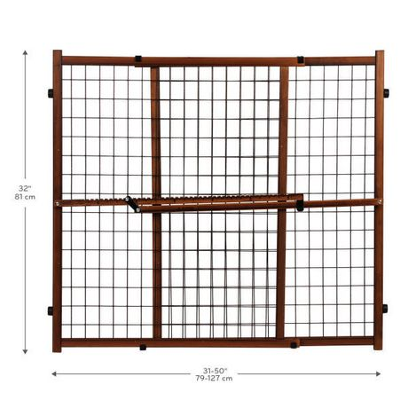 """Set of 2 Evenflo Position Lock Tall Pressure-mount Wood Baby Gates 31/""""-50/"""" Pet"""