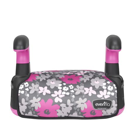 Evenflo Big Kid Amp No Back Booster (Pink Flowers) - image 1 of 6