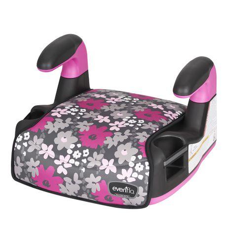 Evenflo Big Kid Amp No Back Booster (Pink Flowers) - image 3 of 6
