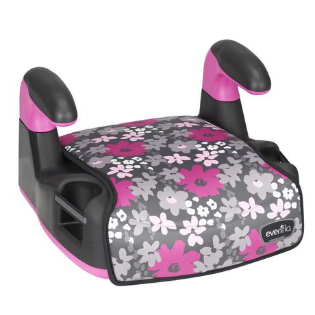 Evenflo Big Kid Amp No Back Booster (Pink Flowers) - image 2 of 6