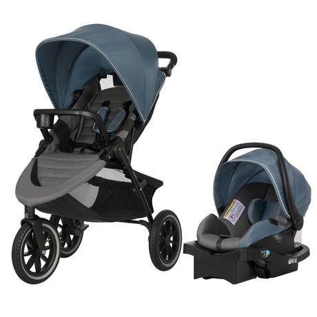 Evenflo Folio3 Stroll & Jog Travel System with LiteMax 35 Infant Car Seat (Skyline) - image 1 of 8