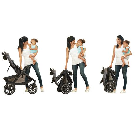 Evenflo Folio3 Stroll & Jog Travel System with LiteMax 35 Infant Car Seat (Skyline) - image 3 of 8