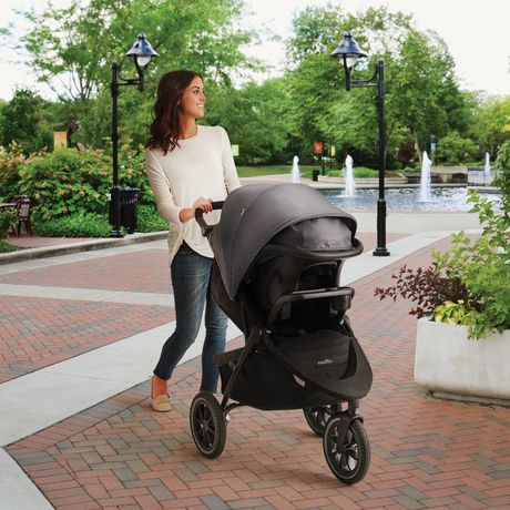 Evenflo Folio3 Stroll & Jog Travel System with LiteMax 35 Infant Car Seat (Skyline) - image 6 of 8