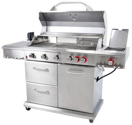 Backyard Grill 6-Burner Propane Gas Grill with Side Burner ...